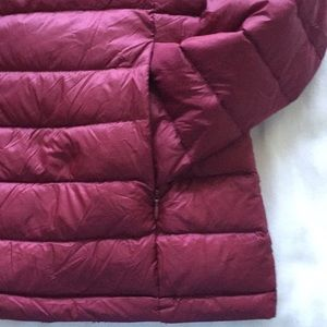 Girls Burgundy Harvey & Jones Hooded Puffer Jacket